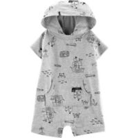 carter's® Boy's Newborn Pirate Hooded Romper in Cream
