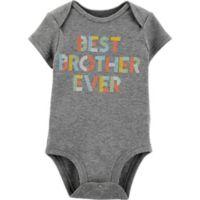carter's® Newborn Best Brother Ever Bodysuit in Grey
