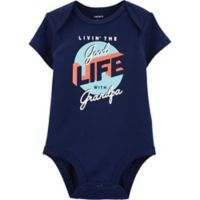 carter's® Newborn Livin' the Good Life With Grandpa Bodysuit in Navy