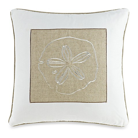 Solid Seashell White Square Throw Pillow - Bed Bath & Beyond