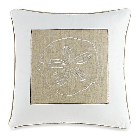 White Square Throw Pillows : Solid Seashell White Square Throw Pillow - Bed Bath & Beyond