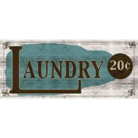 """Bungalow Flooring """"Laundry 20 Cents """" 25-Inch x 60-Inch Runner"""