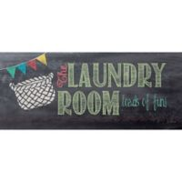 """Bungalow Flooring """"The Laundry Room. Loads of Fun"""" 25-Inch x 60-Inch Runner"""