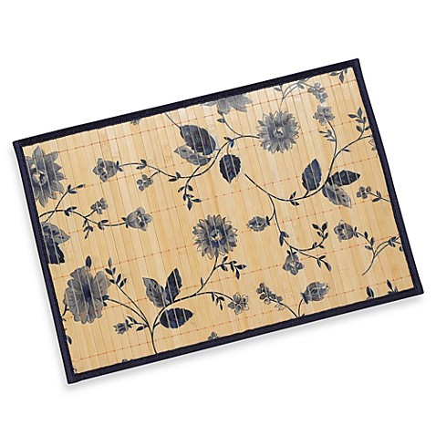 Bamboo Blue Flower Placemat