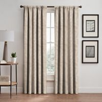 Isolde Leaf Embroidery 95-Inch Rod Pocket/Back Tab Window Curtain Panel in Ivory