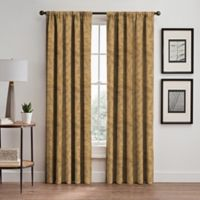 Isolde Leaf Embroidery 63-Inch Rod Pocket/Back Tab Window Curtain Panel in Gold
