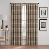 Emerson Stripe 84-Inch Rod Pocket/Back Tab Window Curtain Panel in Cafe