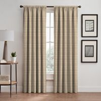 Emerson Stripe 95-Inch Rod Pocket/Back Tab Window Curtain Panel in Natural