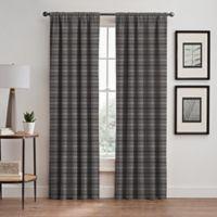 Emerson Stripe 63-Inch Rod Pocket/Back Tab Window Curtain Panel in Haze