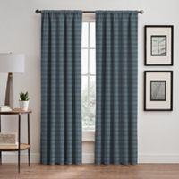 Emerson Stripe 95-Inch Rod Pocket/Back Tab Window Curtain Panel in French Blue