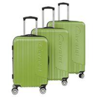 Cavalet Malibu 3-Piece Hardside Spinner Luggage Set in Lime Green