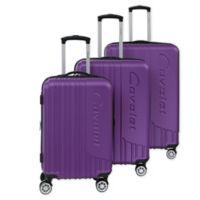 Cavalet Malibu 3-Piece Hardside Spinner Luggage Set in Purple