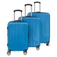 Cavalet Malibu 3-Piece Hardside Spinner Luggage Set in Indigo Blue