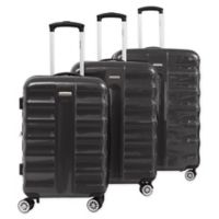 Cavalet Artic 3-Piece Hardside Spinner Luggage Set in Dark Grey