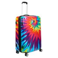 Ful® Tie-Dye Swirl 24-Inch Hardside Spinner Checked Luggage