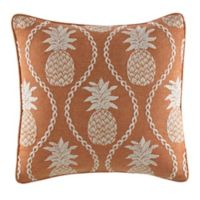 Tommy Bahama® Batik Pineapple Square Throw Pillow in Coral
