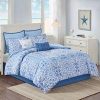 Nerissa Twin Comforter Set in Blue