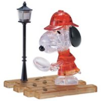 BePuzzled Detective Snoopy 34-Piece 3D Crystal Puzzle