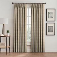 Emerson Stripe 108-Inch Pinch Pleat Window Curtain Panel in Natural