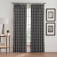 Emerson Stripe 84-Inch Pinch Pleat Window Curtain Panel in Haze
