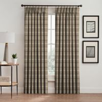 Emerson Stripe 63-Inch Pinch Pleat Window Curtain Panel in Cafe