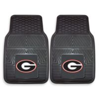 University of Georgia Heavy Duty 2-Piece Vinyl Car Mat Set