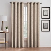Isolde Leaf Embroidery 95-Inch Grommet Window Curtain Panel in Ivory