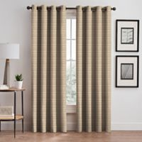 Emerson Stripe Grommet 63-Inch Window Curtain Panel in Natural