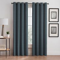 Emerson Stripe Grommet 95-Inch Window Curtain Panel in French Blue