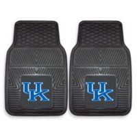University of Kentucky Heavy Duty 2-Piece Vinyl Car Mat Set