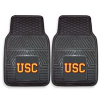 University of Southern California Heavy Duty 2-Piece Vinyl Car Mat Set