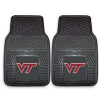Virginia Tech Heavy Duty 2-Piece Vinyl Car Mat Set