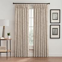 Isolde Leaf Embroidery 95-Inch Pinch Pleat Window Curtain Panel in Ivory