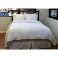 Belle Epoque Solid Relaxed Rows Full/Queen Coverlet in White