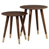 Yvonne Nesting Side Tables in Walnut (Set of 2)