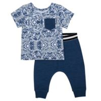 Aimee Kestenberg Size 3M 2-Piece Shirt and Pant Set in Navy