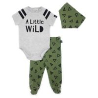 Mini Heroes™ Size 3M 3-Piece Wild Triangles Set in Green