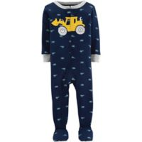 carter's® Size 18M Construction Truck Snug-Fit Cotton Pajama in Navy