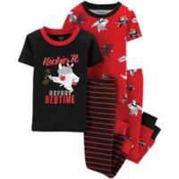 carter's® Size 4T 4-Piece Ninja Snug-Fit Cotton Pajama Set in Red/Black