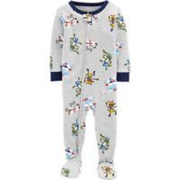 carter's® Size 12M Ninja Snug-Fit Cotton Pajama in Grey