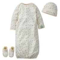 Gerber® Onesies® Size 0-6M 3-Piece Little Star Gown Set in Brown