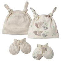 Gerber® Squirrel Preemie 4-Piece Cap and Mitten Set