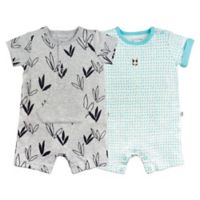 Mac & Moon Newborn 2-Pack Unisex Short Sleeve Rompers
