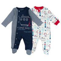 Mac & Moon Baby Boys Size 9M 2-Pack Sleep & Play Pajamas