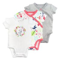 Mac & Moon Size 18M 3-Pack Floral Short Sleeve Bodysuits