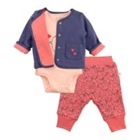 Mac & Moon Newborn 3-Piece Bird Bodysuit, Cardigan, and Pant Set