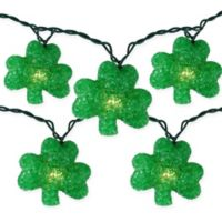 Northlight 10-Light St. Patrick's Day Shamrock String Light Set in Green