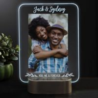 Romantic Couple Personalized Light Up LED Glass Frame