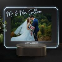 Wedding Memories Personalized Light Up LED Glass Frame