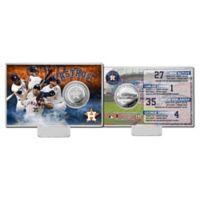 MLB Astros Team Force Coin Card